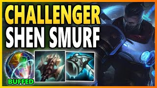 OMN STONE SHEN LEVEL 1 CHEESE  S TOO STRONG Season 10 Shen Gameplay  League of Legends