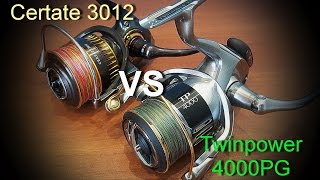 Daiwa Certate 16 3012 vs Shimano Twin Power 15 4000pg