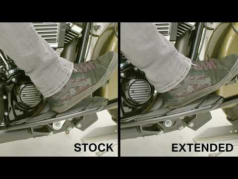 Kuryakyn Extended Brake Pedal vs. Stock HD Brake Pedal