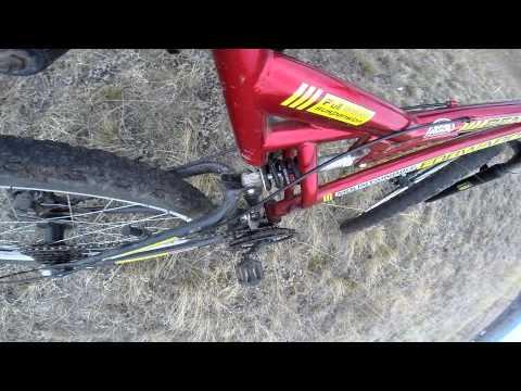 Работа амартизаторов на велосипеде Forward benfica 1