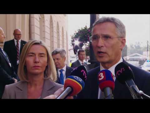 NATO Secretary General with EU High Representative Mogherini, 27 SEP 2016
