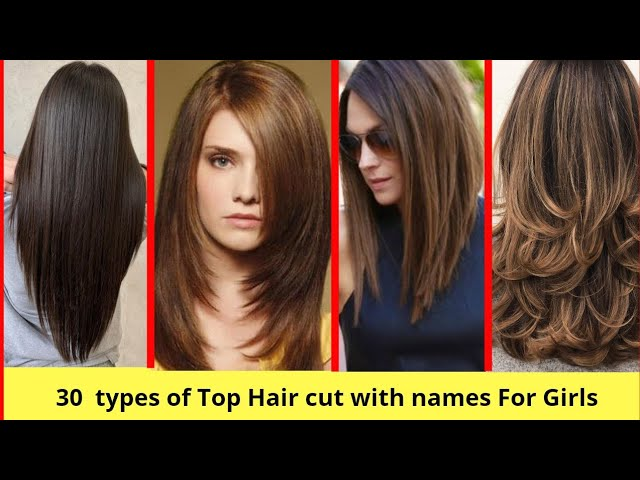 30 Top Different Types Of Hair Cut For Girls Hair Cutting With Different Styles Youtube