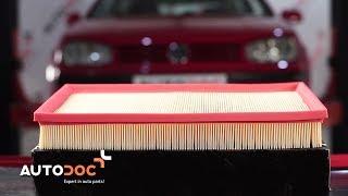 Kā nomainīt VW GOLF 4 Motora gaisa filtrs [Pamācība]