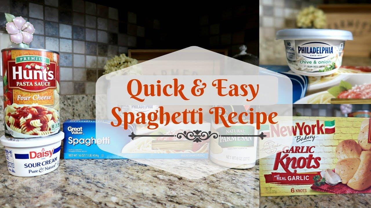 Quick And Easy Spaghetti Recipe Weeknight Dinner Idea My Spaghetti Recipe