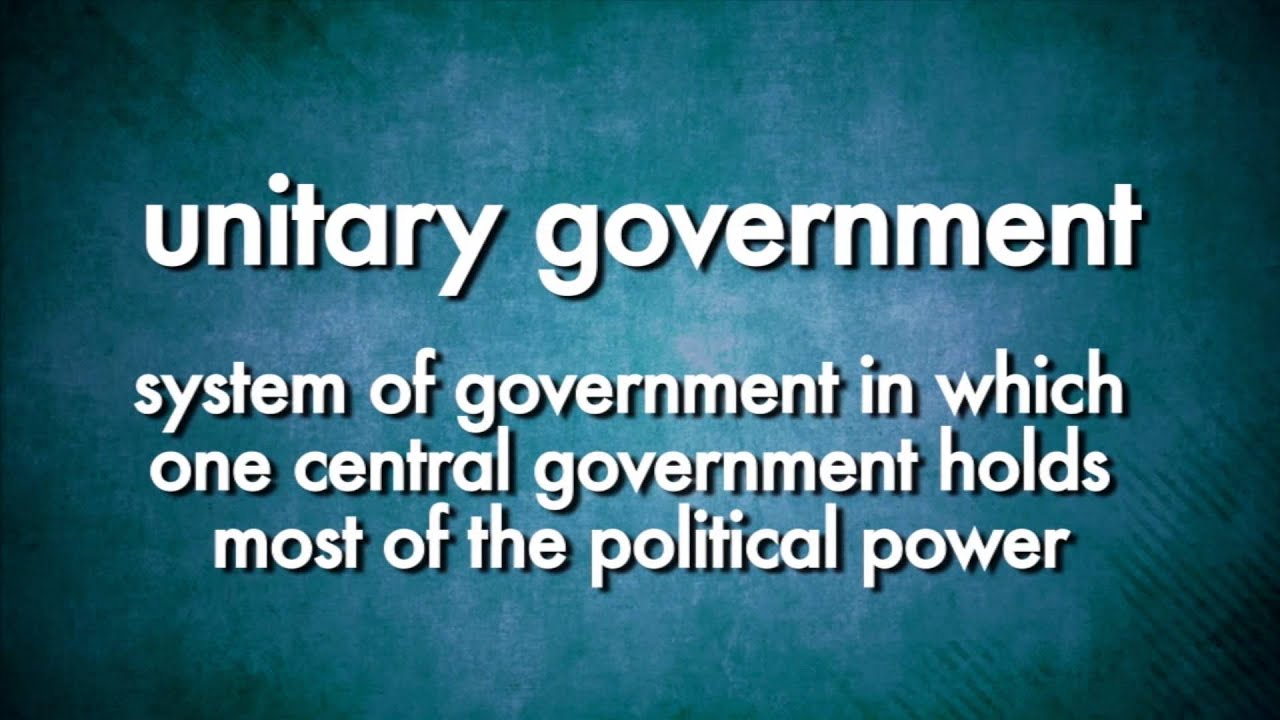 Social Studies Video Vocab: Unitary Government (Accessible Preview ...