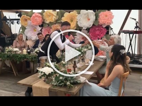 Surprise for the couple -Your Song - The Singing Waiter Masters