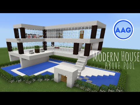 Minecraft PE Building Showcase Part 1 Modern House Above Water