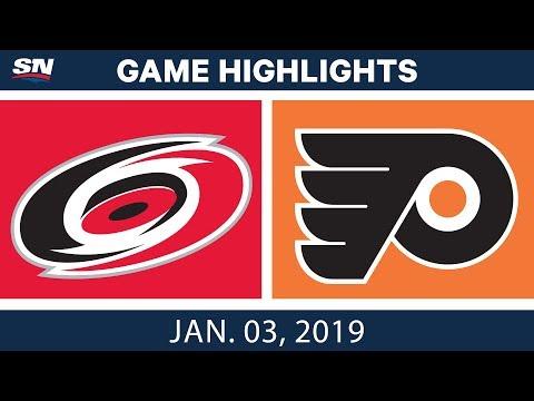 NHL Highlights | Hurricanes vs. Flyers - Jan. 3, 2019