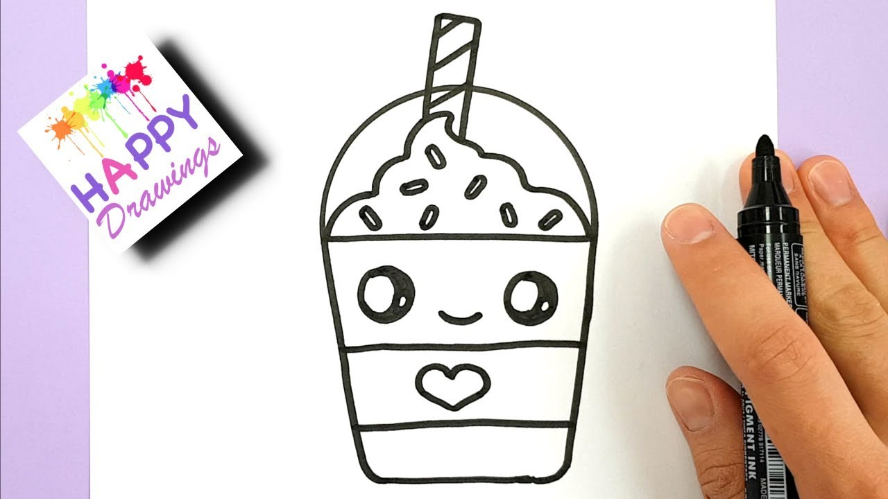 How To Draw A Starbucks Frappuccino Cute And Easy Cartoon Drink