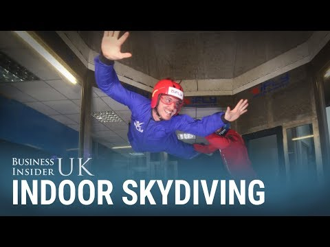 We tried out indoor skydiving – where you face wind speeds of 165 mph