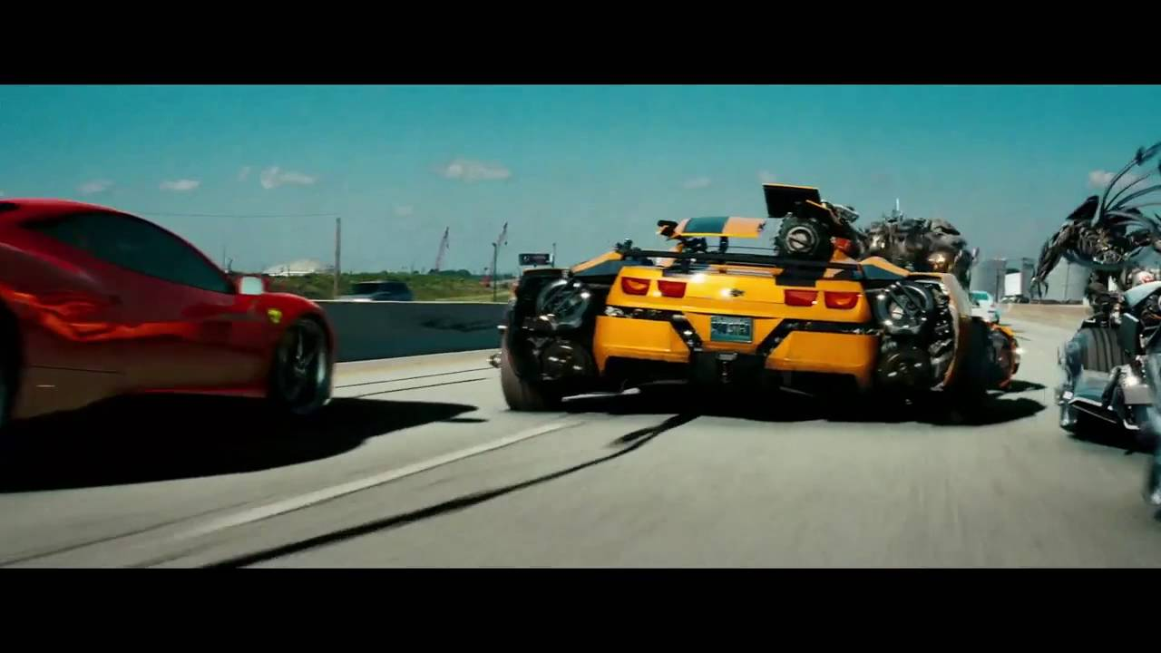 transformers 3 highway scene in hindi full hd - youtube