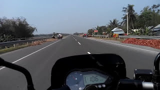 speed test of pulsar 150 cc