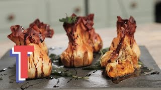 Roasted Butternut Squash & Goats Cheese Filo Parcels | Feed My Friends S2e2/8