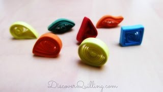 DIY Paper Quilling Tutorial - Basic shapes