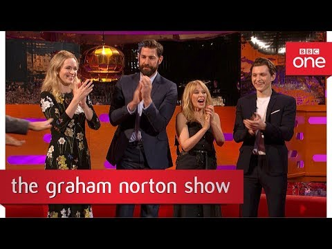 John Krasinski and some audience members  off their best dance moves   The Graham Norton
