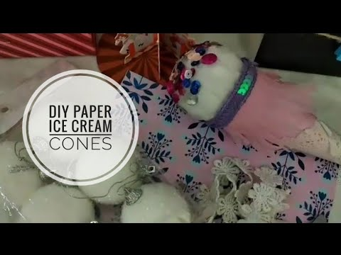 diy paper ice cream cones ❤️||