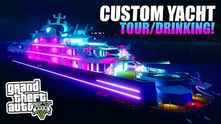 GTA 5 - Custom Super Yacht Tour/Getting Drunk - Executives & Other Criminals DLC