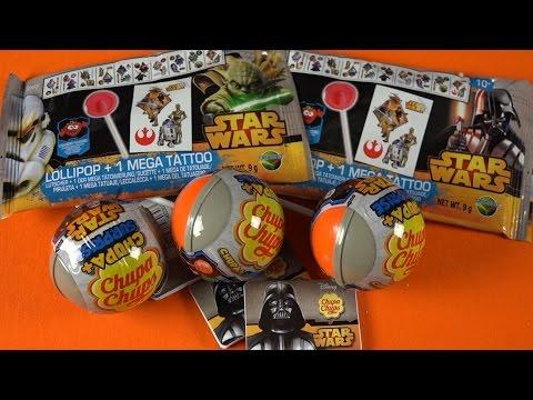 STAR WARS MEGA TATTOO & Surprise Eggs & Party Bag Chuppa Chups