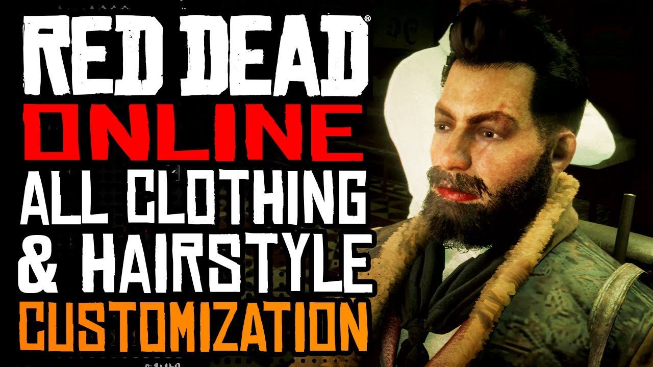 Red Dead Online ALL CUSTOMIZATION OPTIONS: All Clothes, Hairstyles, Facial  Hair & Dentistry!