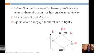 Section 4-Heteronuclear Diatomic Molecules