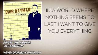 Dion Bayman - You and I (Lyric Video)