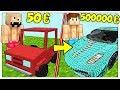 AUTO DA 50 EURO CONTRO AUTO DA 500000 EURO! - Minecraft ITA