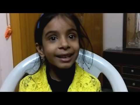 Achyutam Keshavam Krishna Damodaram bhajan छोटी सी बच्ची के द्वारा