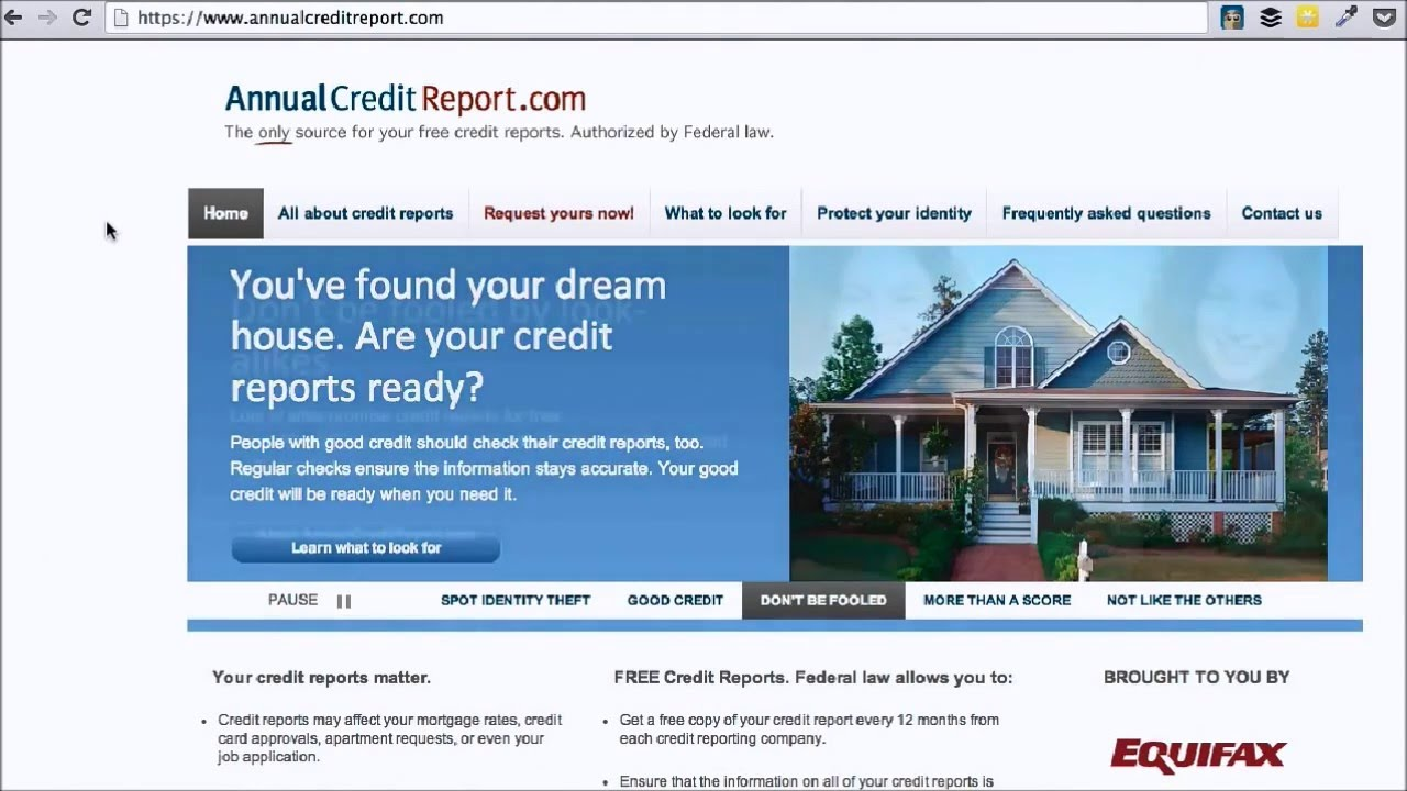 Get Free Credit Report >> Annual Credit Report Cafe Credit