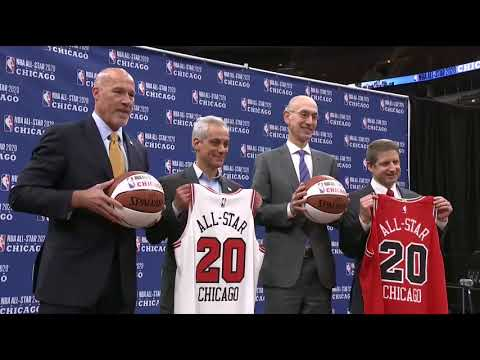 Casey Stern announces that the 2020 NBA All Star game will be held in Chicago, Illinois