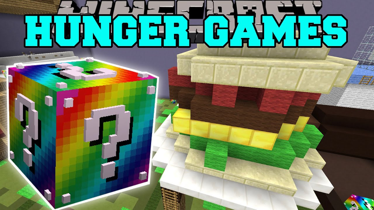 Minecraft BIGGEST SANDWICH EVER HUNGER GAMES Lucky Block Mod Modded Mini Game YouTube