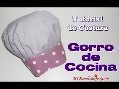 Tutorial  47 - Como hacer un Gorro de Cocina - How to make a Chef ... 82f777a8102