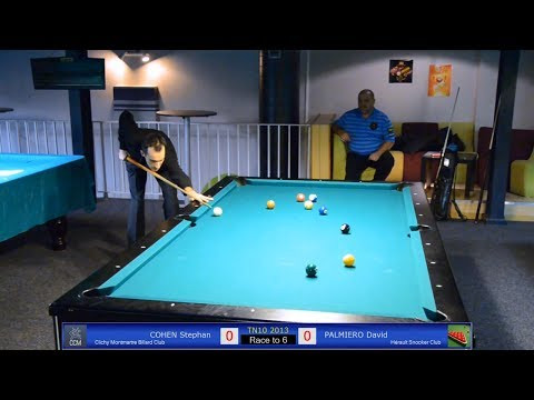 Stephan COHEN vs David PALMIERO - TN10 Tournoi National Billard 2013 - Jeu de la 10 à Toulouse
