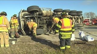 I-94 WB reopened after dumptruck rollover