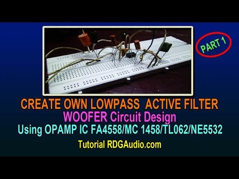 Low Pass Filter For Sub Woofer Using Ka 4558 Opamp Ic Overview
