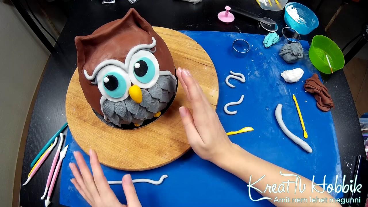 fondant torta képek Mikulás bagoly torta   YouTube fondant torta képek
