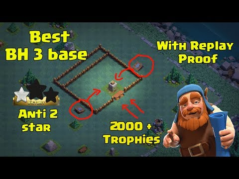 New Builder Hall 3 (BH3) 2 Cannon Base Anti 2 Star + 5 Replay Proof + 2000 trophies   Clash Of Clans