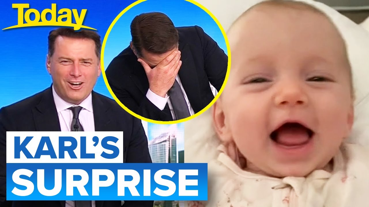 Karl surprised with message from baby daughter Harper | Today Show Australia