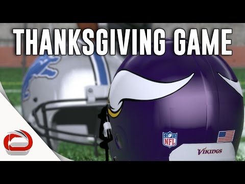 THANKSGIVING DAY FOOTBALL - Minnesota Vikings vs. Detroit Lions - Game 1