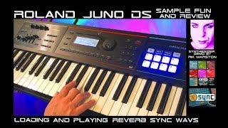 Roland JUNO-DS Sample Fun & Review Loading Analog Synthesizer WAV's Rik Marston