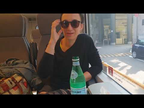Едем в аэропорт Мальпенса,треп с Лерой,метро,поезд...