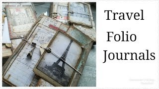 Altered atlas book pages to travel journals