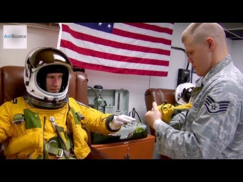 Dressing for Altitude: U-2 Spy Plane Pilot Full Pressure Suit