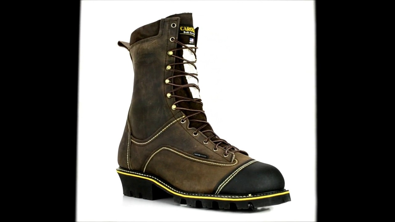 fb894b17eb8 Men's Carolina Steel Toe Waterproof Logger Chainsaw Boot U.S.A. Built CA931  @ Steel-Toe-Shoes.com