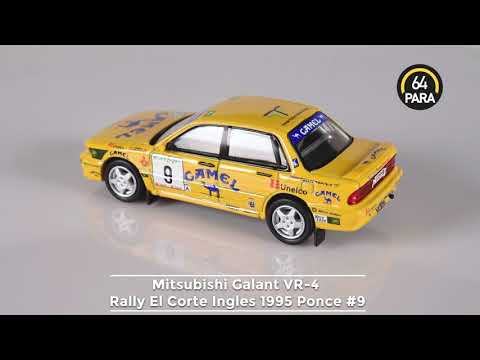 PARA64 1:64 Diecast Mitsubishi Galant VR-4 Rally El Corte Ingles 1995 Ponce #9