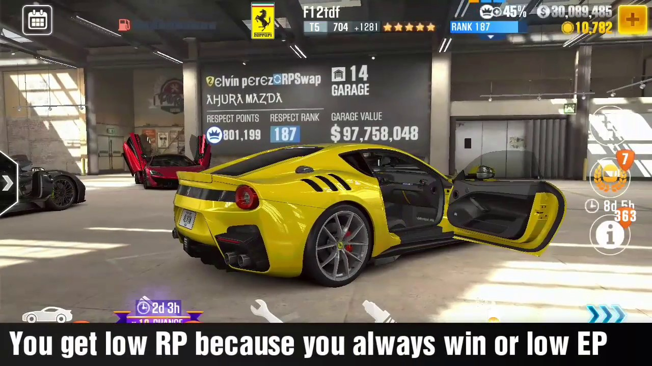 CSR2 - How to get High RP in a Season