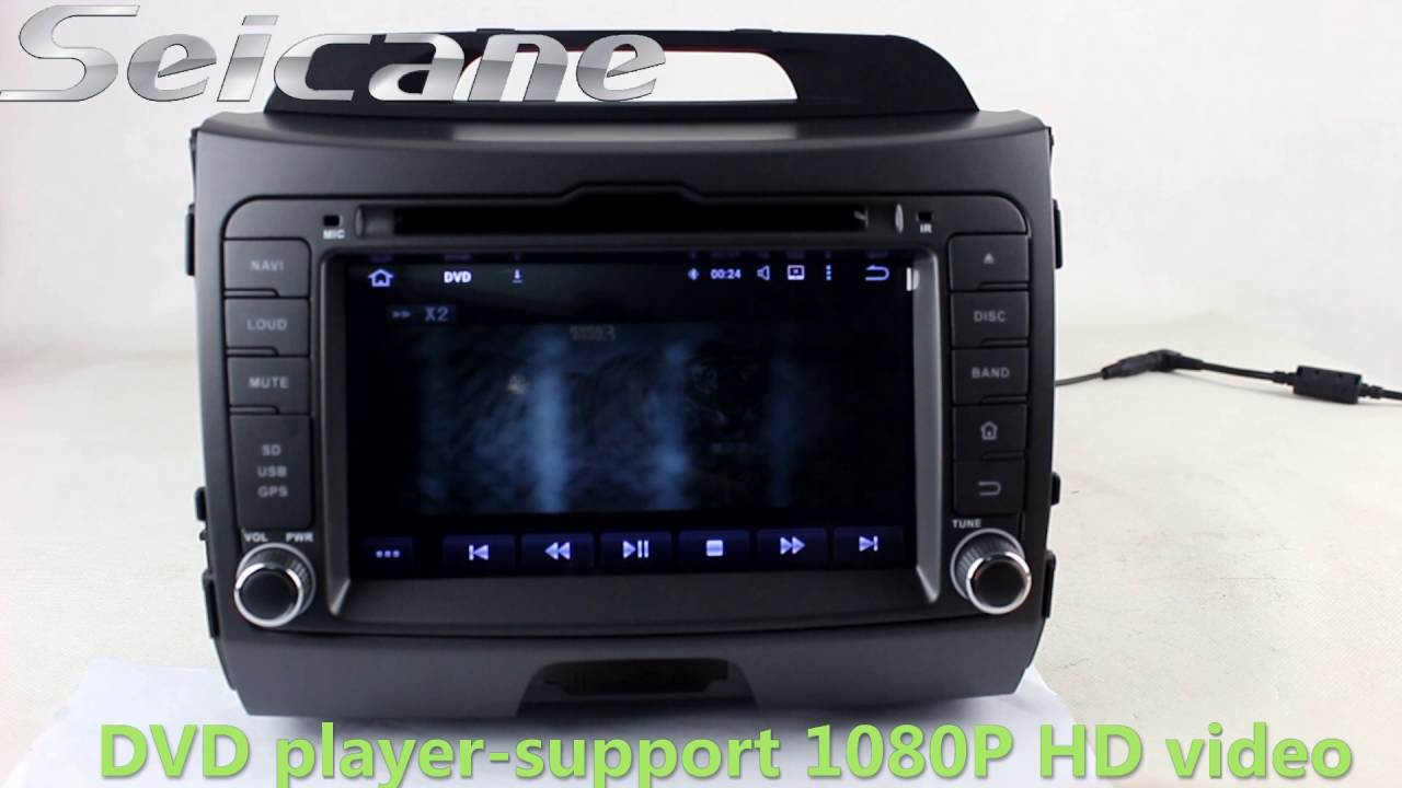 all in one 2010 2011 2013 kia sportage stereo dvd player autoradio with 32gb usb connection 3g wif youtube [ 1280 x 720 Pixel ]