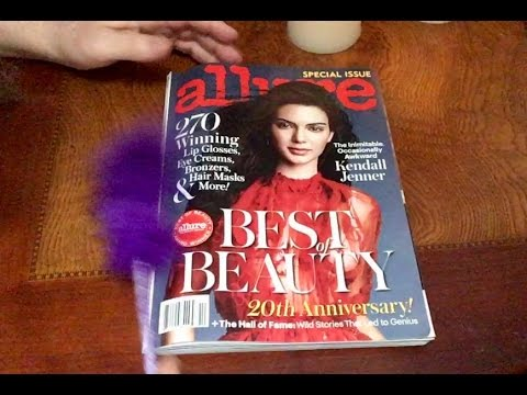 ASMR Flipping Thru Allure Magazine Special Edition, Soft Spoken Whispers, Relaxing, Chewing Gum