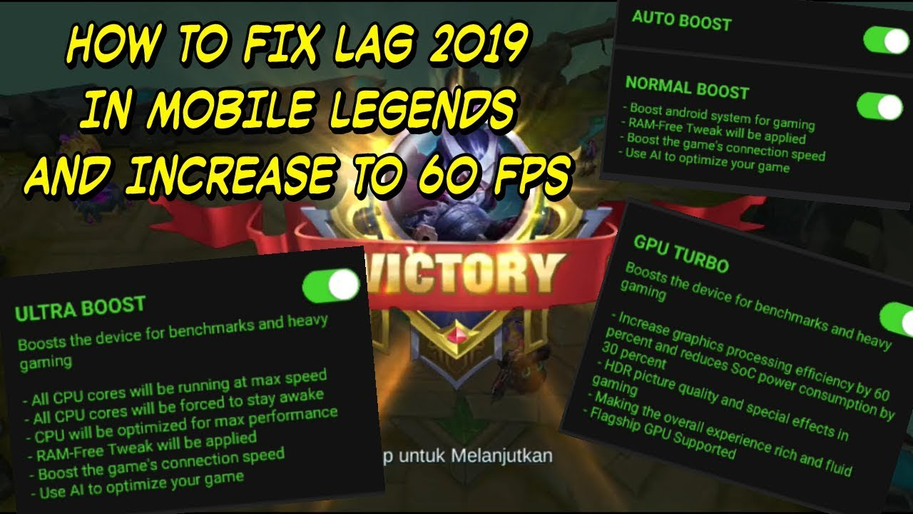 Increase Fps In Pubg Mobile And Fix The Lag: HOW TO FIX LAG IN MOBILE LEGENDS 2019 And INCREASE FPS TO