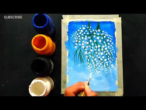 Easy Poster Colours Painting Ideas for Beginners / Canvas Painting / Acrylic Painting