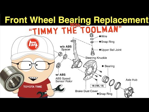 Front Wheel Bearing Replacement (3rd Gen Toyota 4runner & 1st Gen Toyota Tacoma)